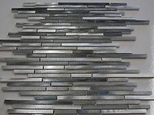 Effektmosaik Mosaik Fliesen silber grau aluminium metall matt glänzend Glas