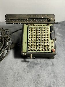Vintage Monroe Adding Machine 1930's Mechanical High Speed Adding Calculator