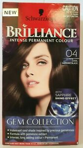 Schwarzkopf Brilliance Intense Gem Collection 04 Cool Sapphire Black Permanent