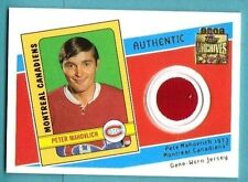 2001-02 Topps Archives Peter Mahovlich Game Jersey Montreal Canadiens