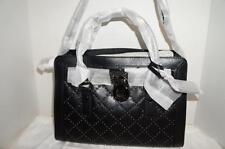 MICHAEL KORS HAMILTON MICROSTUD BLACK LEATHER SATCHEL BAG/PURSE 30F5TMHS3L