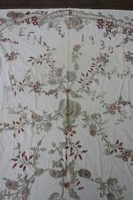 Antique 1930 Handmade Applique Floral Quilt Bedspread EFN Initials 74x88
