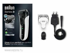 Braun 3020S Series 3 ProSkin Men's Rechargeable Electric Mens Shaver White