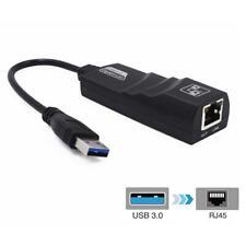USB 3.0 to 10/100/1000 Mbps Gigabit RJ45 Ethernet LAN Network Adapter  For PL6U3