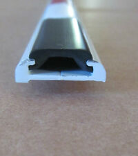 "96"" White Aluminum 3/8"" x 7/8"" Flat Trim Small Vinyl Insert Molding RV Motorhome"