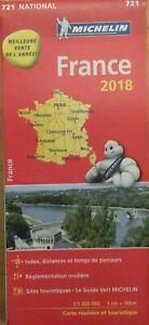 Carte Routière Michelin Nationale France n° 721 1/1 000 000 / Année 2018  *Neuve