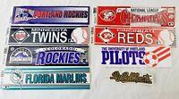 Vintage Lot Wincraft Bumper Stickers 1990 Reds Rockies Twins MLB big ball sports