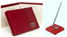 Claret Apple Red Petite Guest Book & Pen With All My Heart Wedding,  Anniversary