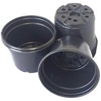 "5 inch Round Black Plastic Pots - SET OF 50 - (5"" x 3.6"")  flower pot Nursery"