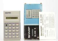 Sharp EL-208 B Vintage Calculatrice Made in Japan (Réf#K-863)