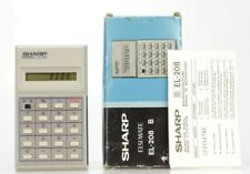 Sharp EL-208 B Vintage Calculatrice  (Réf#K-863)