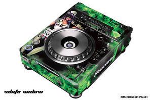 Skin Decal Wrap for Pioneer DVJX1 DJ Mixer CD Pro Audio DVJ X1 Part WHITE WIDOW