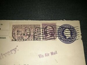 10 Cent Special Delivery and 3 Cent Violet George Washington Stamps Canceled