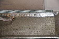 * Tablett Platte Alu rechteckig Silber gestanzt matt