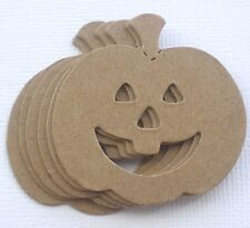 (6) *JACKOLANTERN* Bare Halloween Unfinished Chipboard Die Cuts 1 3/4""