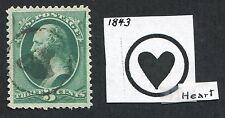 """*Pj's """".03 Cent Green"""" - w/ Whitfield #1843 Fancy Cancel - lot #1708"""