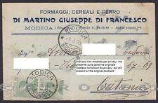 RAGUSA MODICA 06 FORMAGGI CEREALI FERRO DI MARTINO Cartolina COMMERCIALE 1926