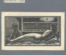 EX06066 EX Libris I. ZETTI Chr. Van der Straaten nude art fine X2