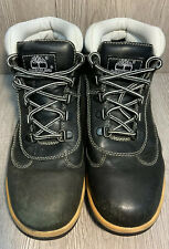 Timberland Women's Black and White Leather Lace Up Ankle Boots Size 6