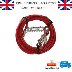Heavy Duty Animates Tie Out Cable with Cushioning Spring Shock Absorber  9.1M