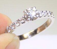 18CT 18 CARAT  WHITE GOLD 0.76CT VS1 DIAMOND  SINGLE STONE  ENGAGEMENT RING  N