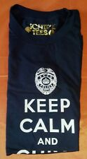 Authentic Navy Police Keep Calm and Chive On Tee - KCCO - Size Large - Brand NEW