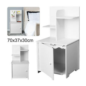 White Bedside Table Cabinets Nightstand Bedroom Furniture Drawer Shelves Storage
