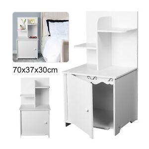 White Bedside Table Cabinets Nightstand Bedroom Furniture Drawer Shelves Storage