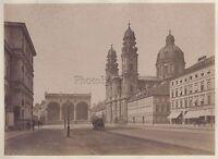 Munich München Odeonsplatz Theatinerkirche Deutschland Vintage Albumin