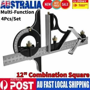 """12"""" 300mm Combination Square Protractor Center Finder iGaging Premium 12"""" AU"""