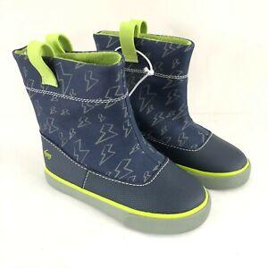 See Kai Run Toddler Boys Ripley Boots Pull On Lightweight Lightning Blue Green 8