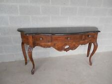CENTURY FURNITURE CO. Oak French Country Faux Marble Top Console 66.5
