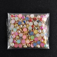200Pcs 3D Nail Art Alloy Decoration Bling Rhinestone Pearl Glitter Tips DIY Nice