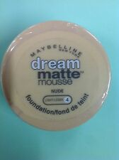Maybelline Dream Matte Mousse Foundation NUDE (LIGHT-4) NEW.