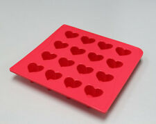 NEW Silicone Chocolate Mold Ice Mould Cube Tray Easter Soap - Heart Red