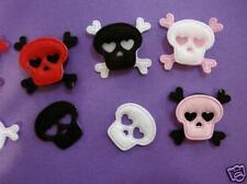 80 Gothic Felt Skull & Crossbone Halloween Applique/Sewing/Trim/bone/craft H68