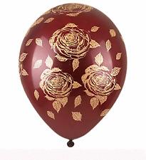 10X Burgundy Gold Big Rose Flower Balloon Bridal shower Wedding Party Decoration