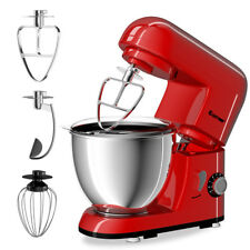 Electric Food Stand Mixer 6 Speed 4.3Qt 550W Tilt-Head Stainless Steel Bowl New