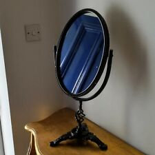 Cheval Oval Mirror Metal Cast Iron Frame Vintage Antique Style Slight Second