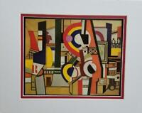 "Fernand Leger  ""Disks And The City""  Matted offset Color Lithograph 1971"