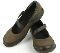 Merrell Mary Jane Black Leather Buckle Strap Casual Comfort Women's Shoe Size 8