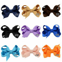 20Pcs Girl Baby Kids Hair Bows Band Boutique Alligator Clip Grosgrain Ribbon SE