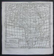 1750ca AFRIQUE original map Robert Vaugondy Nicolle de La Croix Africa Afrika