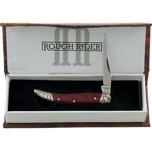 Rough Rider Black Cherry Toothpick Pocket Knife RR1668 Single Folding Blade