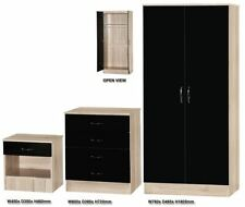 Oak Modern Bedroom Furniture Sets with 3 Pieces