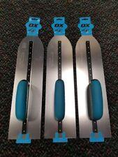 "Ox Tools Pro 18""/115x450mm Pointed Flooring Trowel - 3 Piece Set"