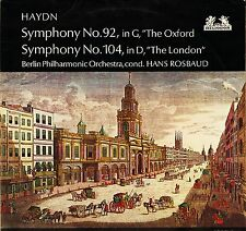 "89 623 ROSBAUD haydn symphony no 92 the oxford/104 the london uk 1966 12"" EX/EX-"