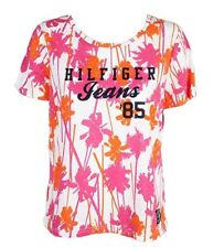 TOMMY HILFIGER $39 Womens New W/Tag White Pink Palm Tree Top 1X Plus