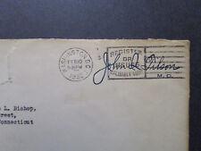 US 1934 House of Rep John Tilson Signed / Franked Cover / Top Tear - Z7392