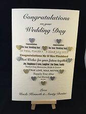 Personalised & Hand Made Congratulations on your Wedding Day Card